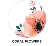 Coral Flowers Wedding Theme Favours
