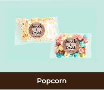 Personalised Popcorn For Weddings