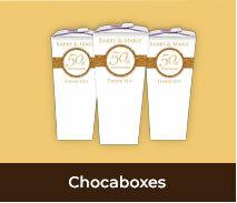 Personalised Wedding Anniversary Chocaboxes