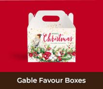 Christmas Gable Favour Boxes