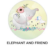 Elephant And Friend Theme Baby Shower Favours