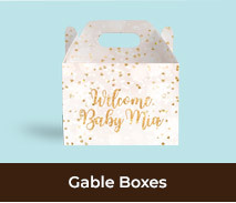 Gable Boxes For Birth  Announcements