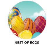Nest Of Eggs Personalised Easter Chocolate