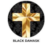 Black Damask Personalised Easter Chocolates