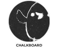 Chalkboard Personalised Easter Chocolate Theme
