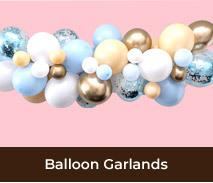 Balloon Garlands For Gender Reveal Parties