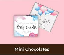 Personalised Mini Chocolates For Gender Reveals