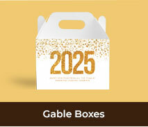 Personalised Gable Boxes For New Years Eve