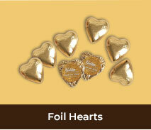Wedding Anniversary Foil Chocolate Hearts