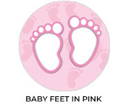 Baby Feet On Pink Custom Baby Shower Favours