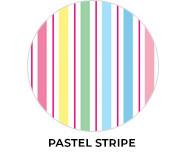 Pastel Stripe Birthday Theme Custom Party Favours