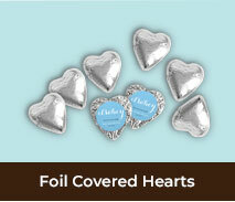Personalised Birth Announcement Chocolate Hearts
