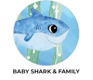 Baby Shark And Family Birthday Favours