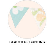 Beautiful Bunting Birthday Party Favours