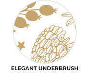 Elegant Underbrush Theme Custom Christmas Favours