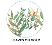 Leaves On Gold Theme Wedding Favours