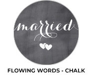 Flowing Words - Chalk Wedding Favours