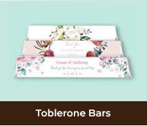 Toblerone Chocolate Bars For Weddings