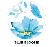Blue Blooms Wedding Theme Favours