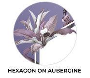 Hexagon On Aubergine Wedding Theme Favours