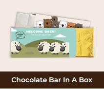 Personalised Welcome Back Chocolate Bar Boxes
