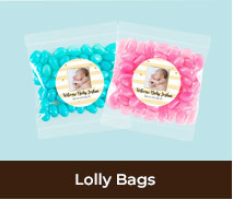 Personalised Birth Announcement Lolly Bags