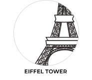 Eiffel Tower Paris Birthday Favours