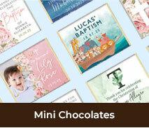 Christening And Baptism Mini Chocolates