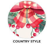 Country Style Theme Custom Christmas Favours
