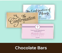 Personalised Confirmation Chocolate Bars