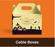 Personalised Gable Box Favour Boxes For Halloween