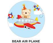 Bear Air Plane Theme Birthday Favours