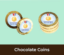 Personalised Chocolate Coins For Graduations