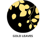 Gold Leaves Wedding Favours