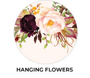 Hanging Flowers Wedding Favours