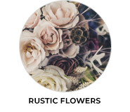 Rustic Flowers Theme Wedding Favours