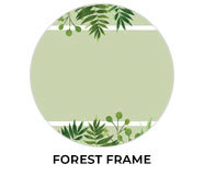 Forest Frame Wedding Theme Favours