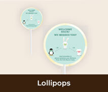 Personalised Welcome Back Lollipops