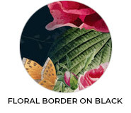 Thank You - Floral Border On Black