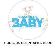 Curious Elephants Blue Theme Baby Shower Favours