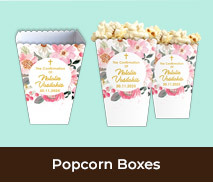 Personalised Popcorn Boxes For Confirmations
