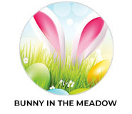 Bunny In The Meadow Personalised Easter Chocolates