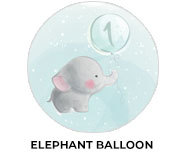 Elephant Balloon Theme Birthday Favours