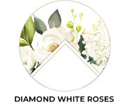 Diamond White Roses Wedding Favours