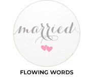 Flowing Words - Canvas Wedding Favours