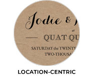 Location-Centric Theme Wedding Favours