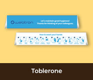 Health And Hygiene Personalised Toblerone Bars