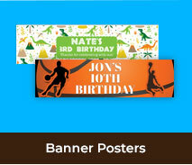 Kids Birthday Personalised Banners And Posters