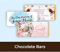 Christening And Baptism Chocolate Bars