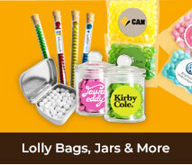 Fillables - Promotional Lolly Bags, Jars & More